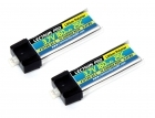 Lectron Pro™ 3.7V 160mAh 25C Lipo Battery 2-Pack with Micro Connector for Blade mCX, mSR, and mSR X