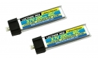 2-Packages of Lectron Pro 3.7V 220mAh 45C Lipo Battery 2-Pack for Blade mCX, mCX2, mSR, mSR X, Nano QX, & UMX AS3Xtra