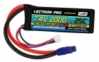 Lectron Pro 7.4V 2000mAh 25C Lipo Battery with EC3 Connector for 1/16 & 1/18 Scale Cars & Trucks