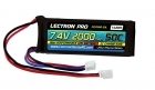 Lectron Pro 7.4V 2000mAh 50C Lipo Battery with Mini Connector for Dromida 1/18-Scale Brushless Cars and Trucks