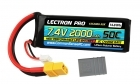 Lectron Pro 7.4V 2000mAh 50C Lipo Battery with XT60 Connector <b>+ CSRC adapter for XT60 batteries to popular RC vehicles</b>