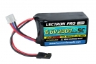 Lectron Pro™ 6.6V 2000mAh 5C LiFe Receiver Hump Pack Battery with Servo Connector