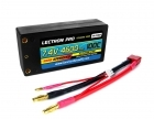 "Lectron Pro 7.4V 4600mAh 100C ""Shorty"" Lipo Battery with 4mm Bullet Connectors for 1/10 Scale Cars & Trucks"