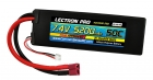 Lectron Pro 7.4V 5200mAh 50C Lipo Battery with Deans-Type Connector for 1/10th Scale Cars & Trucks - Team Associated etc.