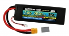 Lectron Pro 7.4V 7600mAh 35C Lipo Battery with XT60 Connector <b>+ CSRC adapter for XT60 batteries to popular RC vehicles</b>