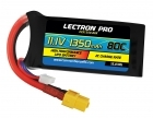 Lectron Pro 11.1V 1350mAh 80C Lipo Battery with XT60 Connector for FPV Racers