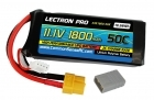Lectron Pro™ 11.1V 1800mAh 50C Lipo Battery with XT60 Connector <b>+ CSRC adapter for XT60 batteries to popular RC vehicles</b>
