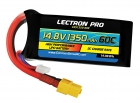 Lectron Pro 14.8V 1350mAh 60C Lipo Battery with XT60 Connector for FPV Racers