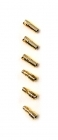 2-Packages of Bullet Connectors - 3.5mm - (3) Male, (3) Female