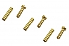 "2-Packages of ""Low Profile"" Bullet Connectors - 4mm - (3) Male, (3) Female"