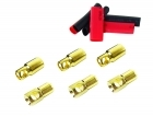 2-Packages of Bullet Connectors - 6mm - (3) Male, (3) Female