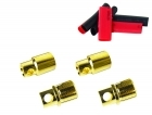 2-Packages of Bullet Connectors - 8mm - (2) Male, (2) Female