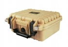 Premium Weather Resistant Single Pistol Case - TAN - DIY Foam - #CASE-5001-TAN-DIY