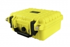 Premium Weather Resistant Single Pistol Case - Yellow - DIY Foam - #CASE-5001-YLW-DIY