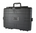 Premium Weather Resistant Double Pistol Case - Black - DIY Foam