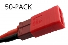 50-Pack of Common Sense RC Red Adapter for Deans-type batteries to popular RC vehicles