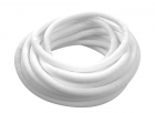3/8 Woven Split Tube Cable Wrap - White - 25 ft pack