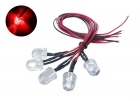 2-Packages of 5-Pack of Pre-Wired 10mm Bright Red LED Light Bulbs