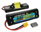 Lectron Pro NiMH 8.4V (7-cell) 5000mAh Hump Pack with XT60 Connector <b>+ CSRC adapter for XT60 batteries to popular RC vehicles</b>