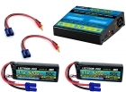 Power Pack #26 - ACDC-DUO Charger + 2 x 11.1V 5200mah 50C w/ EC5 Connector (#3S5200-505)
