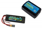 Power Pack #28 - AC-3A Charger + 1 x 7.4V 5200mah 35C w/ XT60 + Gray Adapter (#2S5200-35X)