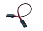 "2-Packages of Male-to-Male Servo Extension Cord - 4"" (100mm)"