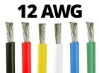 12 Gauge Silicone Wire - 25 ft. Spool - Available in Black, Red, Yellow, Blue, White, and Green