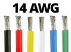 14 Gauge Silicone Wire (By the Foot)  - Available in Black, Blue, Green, Red, White, and Yellow