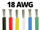 18 Gauge Silicone Wire (By the Foot) - Available in Black, Blue, Green, Red, White, and Yellow