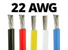22 Gauge Silicone Wire (By the Foot) - Available in Black, Blue, Red, White, and Yellow