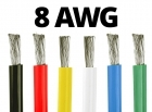 8 Gauge Silicone Wire (By the Foot) - Available in Black, Blue, Green, Red, White, and Yellow