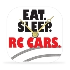 Desk Clock - Eat. Sleep. RC Cars. - 4 in.