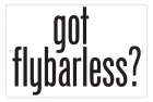 Aluminum Sign - Got Flybarless? - 8x12 in.