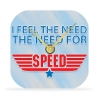 Desk Clock - I Feel the Need... the Need for Speed - 4 in.