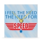 Wall Clock - I Feel the Need... the Need for Speed - 8 in.