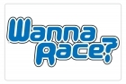 Aluminum Sign - Wanna Race? - 8x12 in.