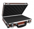 Woody - Premium Wood Grain & Aluminum Single/Double Pistol Case